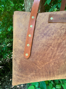 """The Big Mama"" Tote In Rustic Oil Tanned Leather"