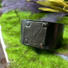 "Load image into Gallery viewer, ""Black Magic"" Leather Cuff"