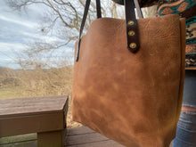 Load image into Gallery viewer, Big Mama Tote in Rustic Brown Denver Leather