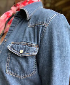 Vintage Denim Pearl Snap Shirt