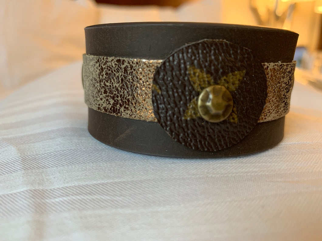 "The ""Lily"" Leather Cuff"
