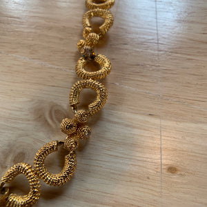 Private Collection Vintage Gold Pinchbeck Style Necklace in Unique Victorian Style