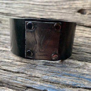 """Black Magic"" Leather Cuff"