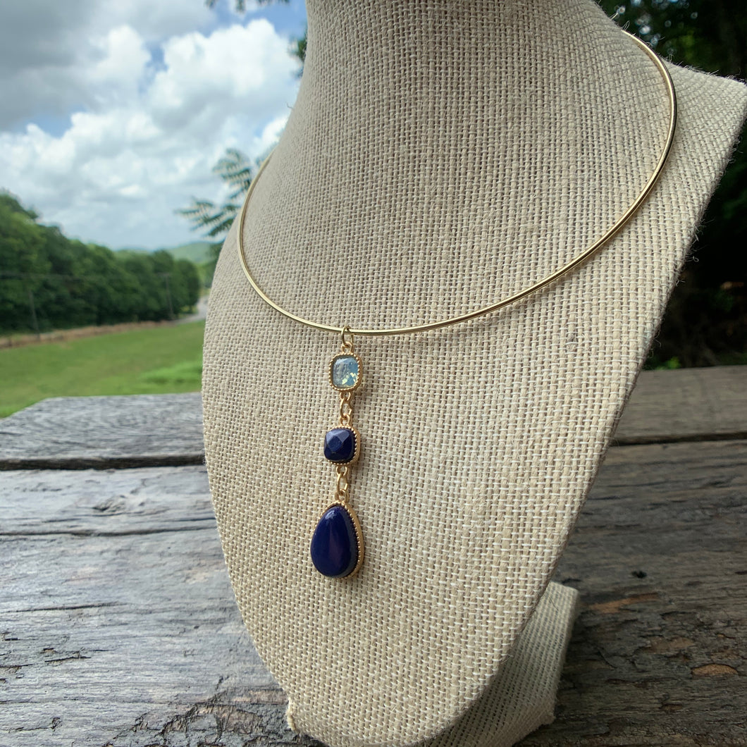 Blue Moon Collar Necklace