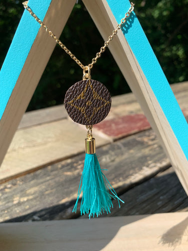"""Lucile"" Repurposed LV Tassel Necklace"