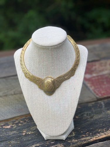 Private Collection Vintage Brass Collar Necklace