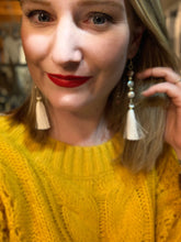 Load image into Gallery viewer, Handmade Bead & Tassel Earrings