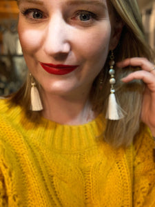 Handmade Bead & Tassel Earrings