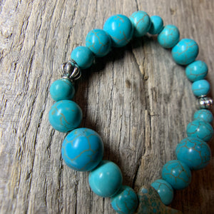 Turquoise Bracelet with Large Stone Accent