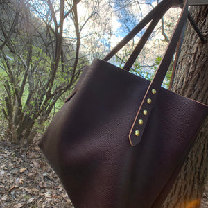 """The Big Mama Tote"" in Oxblood"
