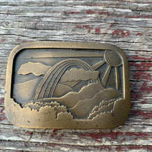 Load image into Gallery viewer, Vintage Rainbow Brass Belt Buckle