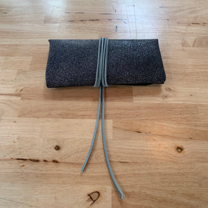 """The Priscilla"" in Navy Blue Pigskin - Clutch Purse"