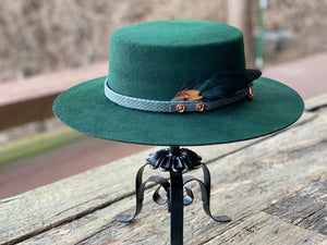 Copper & Emerald Cluster Hat Feathers