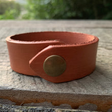 "Load image into Gallery viewer, ""Copper Fox"" Leather Cuff"