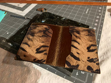 "Load image into Gallery viewer, ""The Jillian"" Passport Wallet in Safari Printed Pigskin"