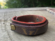 "Load image into Gallery viewer, ""The Red Hot"" Leather Cuff"