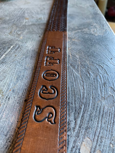 """Scott"" Vintage Western Snap-Back Belt"
