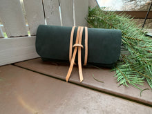 "Load image into Gallery viewer, ""The Priscilla"" in Nubuk Green Leather"