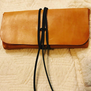 """The Priscilla"" Handmade Leather Clutch"