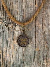 "Load image into Gallery viewer, ""Paulette"" Vintage Necklace with Repurposed LV Canvas"