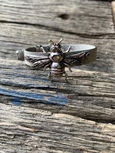 """Buckled Bee"" Silver Bracelet"