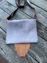"Load image into Gallery viewer, ""Ghost"" Cross Body Fringe Leather Bag"
