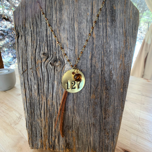 Brass Tag Collection Necklace #127