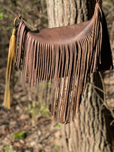 "Load image into Gallery viewer, ""Marci"" Fringe across-Body Leather Bag"
