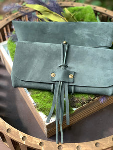 """The Priscilla +"" in Hunter Green Nubuk"