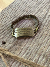 "Load image into Gallery viewer, ""Well-behaved women rarely make history"" Metal Link Bracelet"