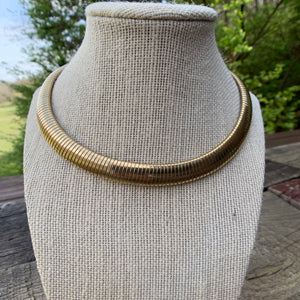 Vintage Gold Statement Necklace