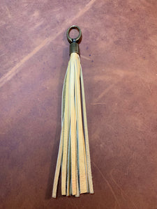 Hand Cut Leather Bag Tassels