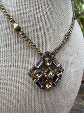 Load image into Gallery viewer, Vintage Gold Necklace with Rhinestone Pendant