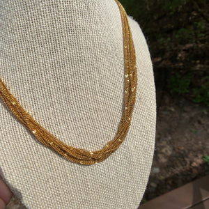 Gorgeous Vintage Layered Gold Chain Necklace