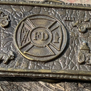Vintage Brass Tiffany Studio New York Fire Department Belt Buckle