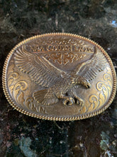 Load image into Gallery viewer, Limited Edition NRA Golden Eagles Vintage Brass Belt Buckle