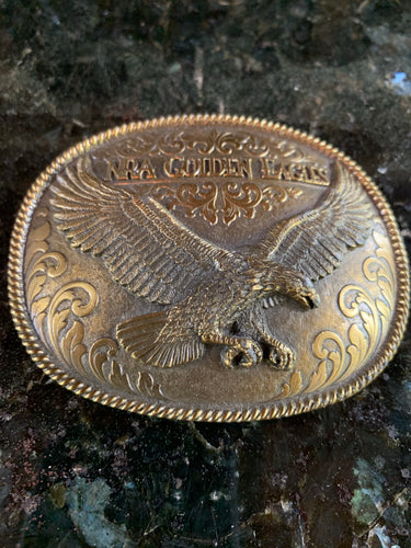 Limited Edition NRA Golden Eagles Vintage Brass Belt Buckle