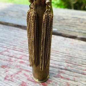 Vintage Brass Tassel Earrings