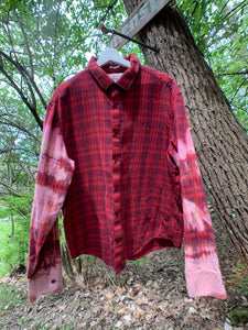 Men's Vintage Penguin Distressed Flannel