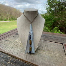 Load image into Gallery viewer, C&P Custom Bullet Necklace with Leather Tassel