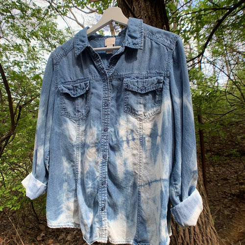 Vintage Distressed Denim Shirt