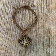 "Load image into Gallery viewer, ""Busy Bee"" Metal Beaded Adjustable Bracelet"