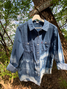 Vintage Levis Distressed Denim Shirt