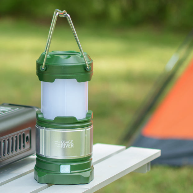 Camping LED Lantern with USB Power Bank, Rechargeable