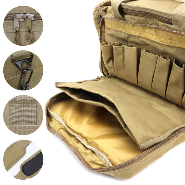 Tactical Range Bag for Handguns and Hunting, Travel Duffel
