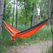 Twain Double Hammock with Tree Safe Straps