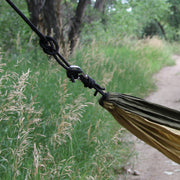 Twain Single Hammock with Tree Safe Straps