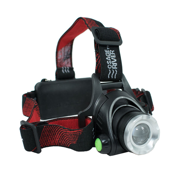 Rechargeable LED 3 Mode Headlamp, Includes Batteries, USB Cable, Wall and Car Charger