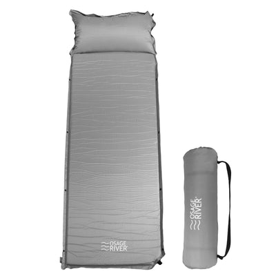 Self Inflating Sleeping Pad for Camping and Backpacking, Lightweight Memory Foam with Pillow