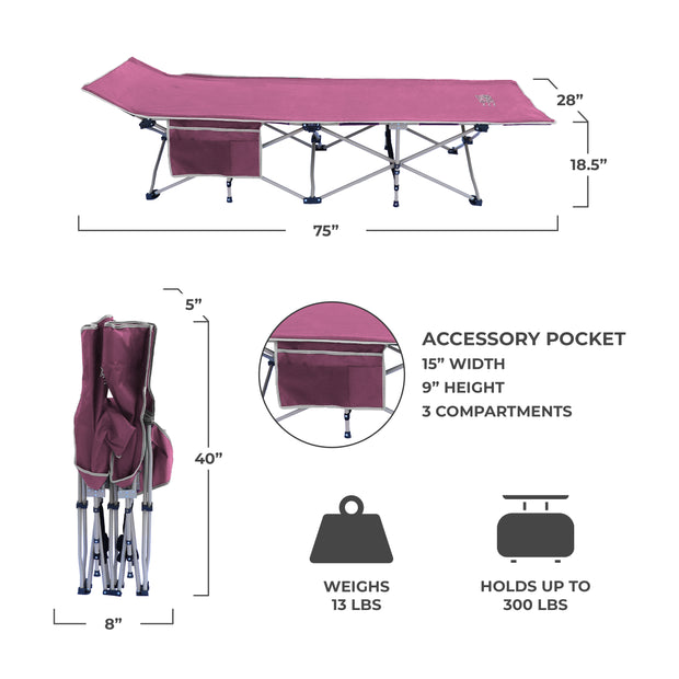 Folding Camping Cot with Carry Bag